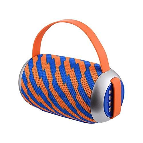 Kaper Go Orange und Blaue Streifen tragbare Bluetooth-Lautsprecher Wasserdichten Lautsprecher Surround-Sound-System Stereo-Musik im Freien Lautsprecher