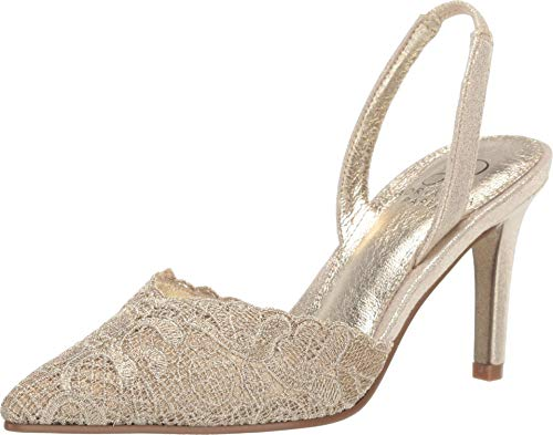 Adrianna Papell Women's Shoes Hallie Fabric Pointed Toe Special Gold