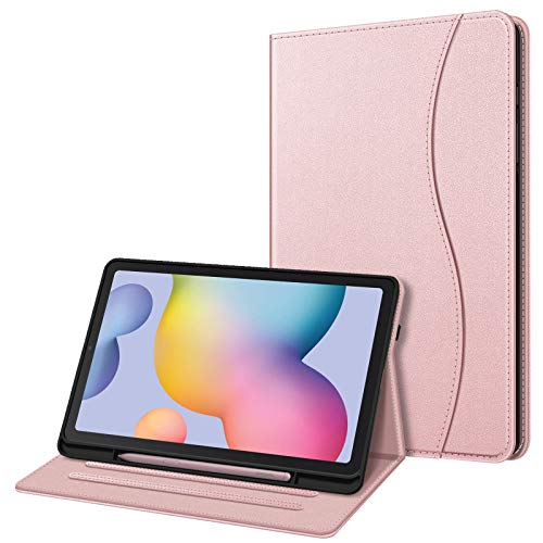 FINTIE Case for Samsung Galaxy Tab S6 Lite 10.4 Inch Tablet 2020 Release Model SM-P610 (Wi-Fi) SM-P615 (LTE) - Multi-Angle Viewing Folio Stand Cover with Pocket, Auto Wake/Sleep, Purple