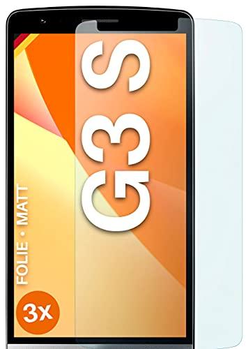 moex Protector de pantalla mate compatible con LG G3s – Protector de pantalla antirreflectante, protector de pantalla mate – 3 unidades