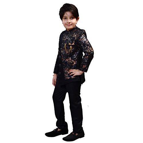 Zolario Sherwani for Kids Boys, Ideal for Birthday, Marriage, Diwali and Other Functions.