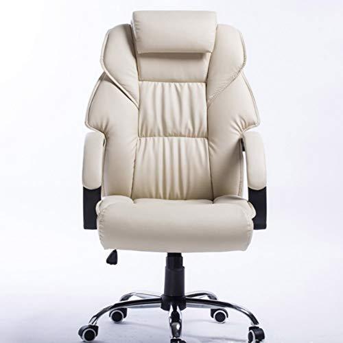 RLIRLI Bureaustoel, bureaustoel, computerstoel voor thuis, comfortabel en zittend, van leer voor vrije tijd