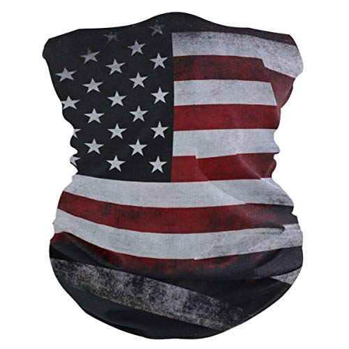 Taroot AA American Flag Red Bavaclava Face Mask for Women Bandana Neck Gaiter Half Face Masks Cold Weather Men kids