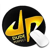マウスパッド Dude Perfect デュード パーフェクト 個性的 おしゃれ 円形 デスクマット 防水 洗える 耐久性 滑り止めゴム底 光学式マウス対応 女性 子供 可愛い 高級感 オフィス自宅兼用