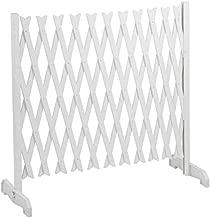 IDMarket - Barrière extensible blanche treillis plastique