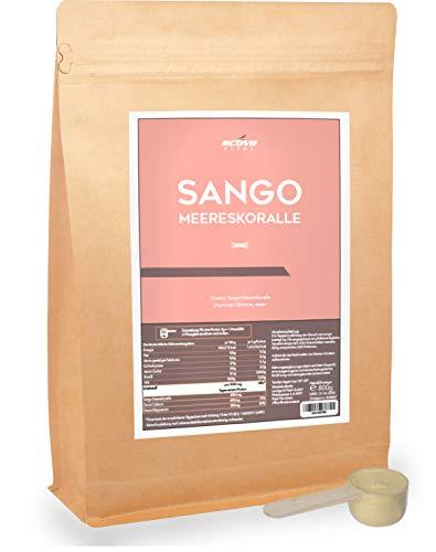 Sango-Meereskoralle-Pulver aus Okinawa 800g (9 Monate) Natürliches 2:1 Magnesium Calcium inkl Dosierlöffel