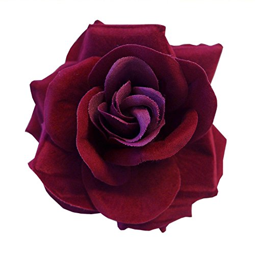 Clip Grande Borgoña Rojo Oscuro Día Gótico De Pelo Muerto La Rosa F
