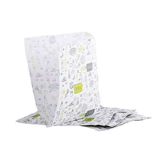 Oldnews (paquete de 100) craft 170 x 170 mm Paper Party Merchandising 17 x 17 cm Bolsas para sacos Contenedor de almacenamiento de almuerzo Comida Hamburguesa Papas fritas (100)