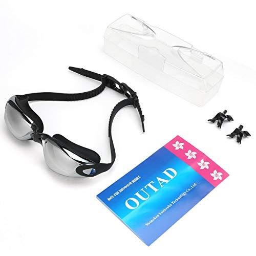 Greatangle-UK OUTAD Gafas de natación de triatlón con protección UV antiniebla Unisex sin Fugas con Estuche de protección Gratuito para niños Adultos