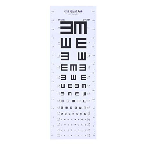UKCOCO Eye Chart Plastische Sehtafel Visual Testing Chart für Home School (weiß)