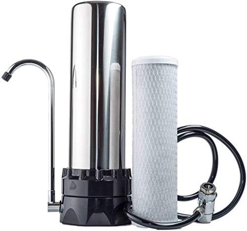 Lake Industries Stainless Steel Countertop Water Purifier Filter (10 Micron Carbon Block)