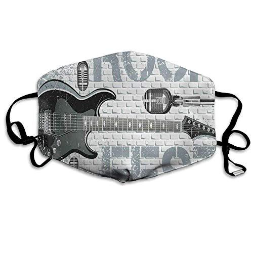 Grunge Color Splashed Brick Wall Fondo Guitarra Eléctrica Mics Design New Sun-Proof Fashion Cara Bandana Sombrero