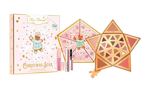 Too Faced Limited Edition Christmas Star Makeup Collection! Eye Shadow Palette & Face Palette Highly Pigmented With A Creamy Soft Texture Shades! Ginger Snap Lip Gloss! Better Than Sex Mascara!