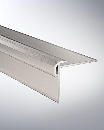 Hometrend Treppenkantenprofil 38x30x2,5 mm gebohrt Alu edelstahl 250cm