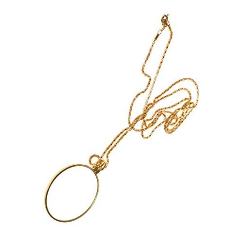 Set 6 Pezzi Collana con Lente D'ingrandimento Ciondolo Lungo In Metallo per Maglione Aumentare di Visione
