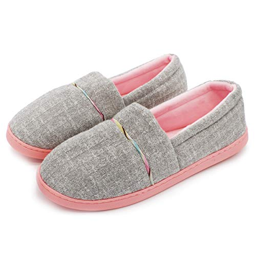 Zapatillas de Estar por casa de Algodón para Mujer Cómodas Pantuflas Invierno...