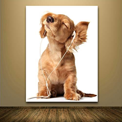 GASFG hond, de muziekkunstwandschilderij, woonvormgevingdruk, fotolijst hoort, 30 x 42 cm Geen lijst