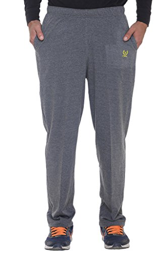 VIMAL JONNEY Men's Poly Cotton Trackpants (Metallic Grey, Medium)