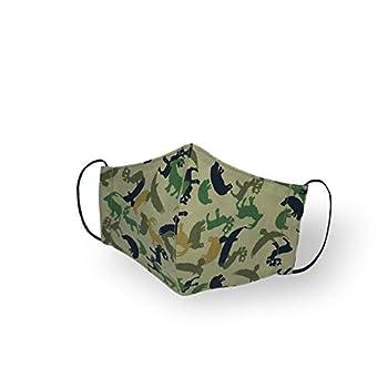 Kanguru Green Mask/Masque Faciale set de 2 pièces 100% coton, 2 couches, lavable, réutilisable enfants 4-6 ans