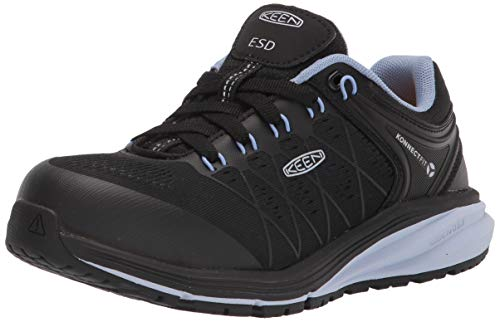 KEEN Utility womens Vista Energy Low Sneakers Composite Toe Esd Work Construction Shoe, Hydrangea/Black, 5 Wide US