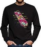 TShirt-People Sudadera para Hombre Hoverboard Skateboard Negro XL