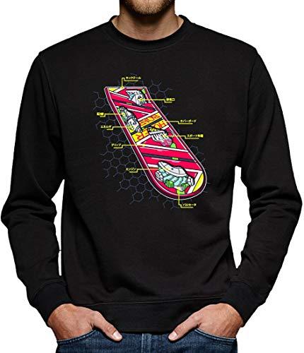 TShirt-People Hoverboard - Felpa da Skateboard, da Uomo Nero XL