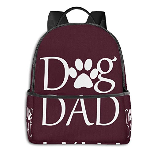 Best Funny Dad Father Dog Giftfashion School Backpack Unisex Classic Lightweight Backpack Printing Cute for Boys Girls High School College Schoolbag Sloth