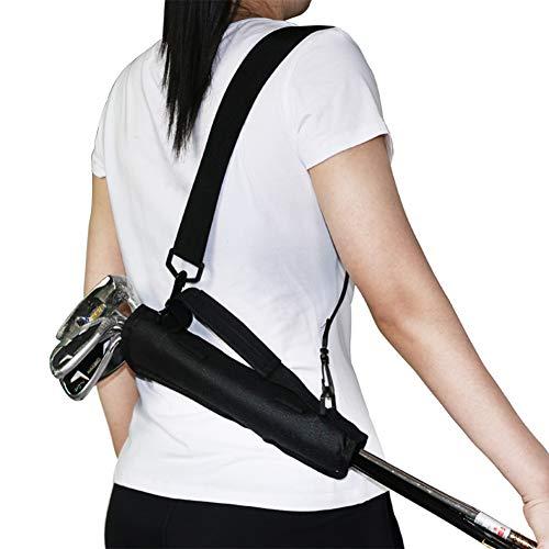 KOET Bolsa de transporte para palos de golf, portátil, mini bolsa de transporte para campos de golf y viajes profesional, color negro, tamaño Tamaño libre