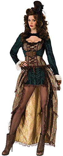 Forum Novelties Novelties-X75015 X75015 Costume de Dame Steampunk, Multicolore, UK 10-12