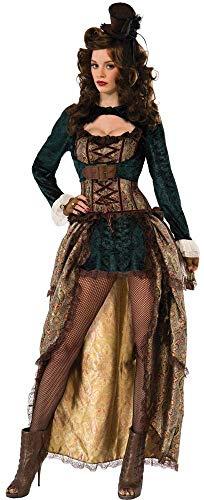 Forum Novelties-X75015 Novelties X75015 Costume de Dame Steampunk, Multicolore, UK 10-12