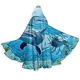 DPQZ - Capa con capucha para Halloween, diseño de delfín bajo el agua