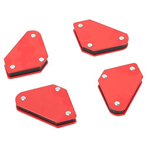 Mini Escuadras Magnéticas para Soldar,Escuadras Soldadura,Soporte Magnético de Soldadura,45 °, 90 °, 135 °,4 Unids,Para Posicionador en Soldadura, Marcado, Instalación de Tuberías