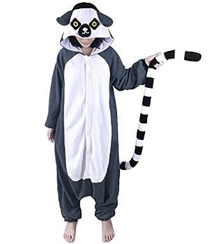 DOITNOW Lemur Pajamas Unisex Adult Jumpsuit Animal Cosplay Costumes  XS Gray
