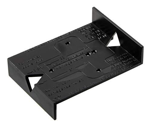Gedotec Bohrschablone Topfscharnier Bohrlehre Möbelscharnier - BLACK JIG | Schablone für Lochreihe mit 32 mm Raster | Kunststoff schwarz | 1 Stück - Ankörn-Schablone für Küchen-Scharniere & Topfbänder