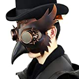 E-Road Plague Doctor Mask Steampunk Beak Bird Mask Halloween Cosplay Costume Props Brown