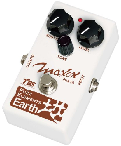 Maxon COMPACT SERIES FEA10 FUZZ ELEMENTS EARTH Bass Distortion Effects Pedal