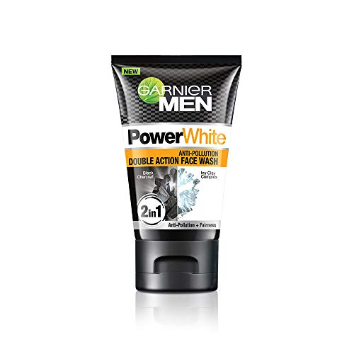 Garnier Men Power White Anti-Pollution Double Action Facewash, 100gm