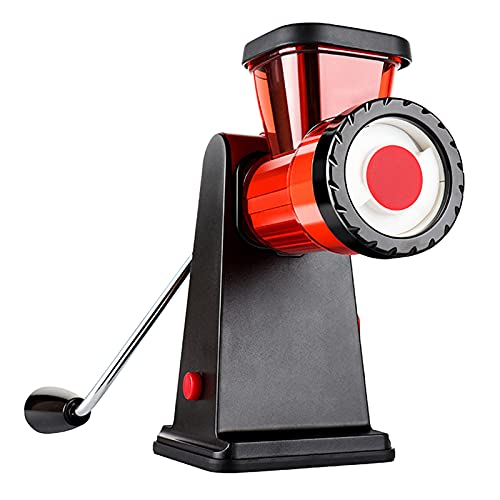 YuuTbiu Small Manual Meat Grinder,Manual Sausage Stuffer Kit with Stainless Steel Blades,Stand Mixer Grinder for Meat,Vegetables,Red