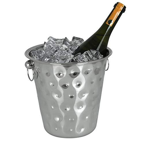 TW24 Sektkühler Edelstahl mit Hammerschlag Wein Champagner Sekt Kühler Weinkühler Eiskübel Flaschenkühler Champagnerkühler