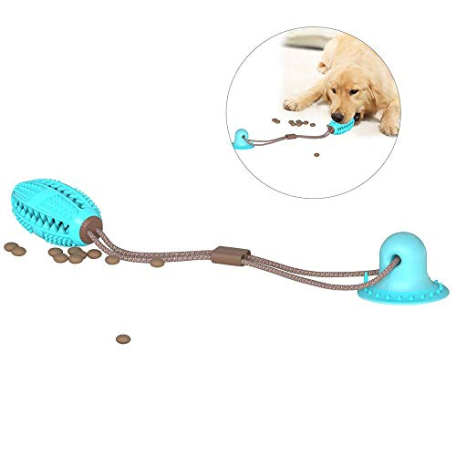 Volwco Pet Molar Bite Toy, Multifunction Dog Chew Toys For Cleaning Teeth, Interactive Ropes Toys Ball With Suction Cup,Dog Molar Stick With Food Dispensing For Dog Puppy