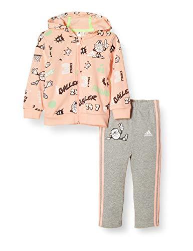 adidas Unisex Kinder I GRAP Fz Hd Ft Trainingsanzug, Hazcor/White, 98