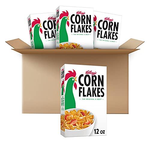Corn Flakes Breakfast Cereal, Original, Fat Free, 12oz Box(Pack Of 4), 48 Oz