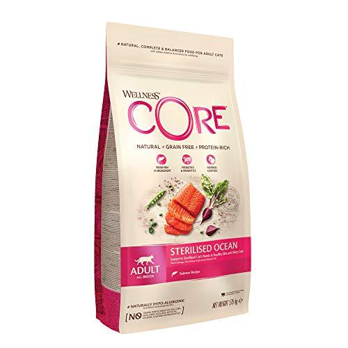 Wellness CORE Sterilised Ocean, Katzenfutter trocken für sterilisierte Katzen, getreidefrei, hoher Fleischanteil, Lachs & Thunfisch, 1,75 kg