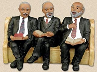 African American Church Pews Figurines Deacon's Board Black