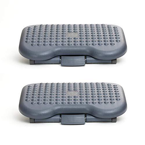 Mind Reader 2FTREST-BLK Rest, Ergonomic Foot, Pressure Relief for Comfort, Back, and Body, 2 Pack, Black
