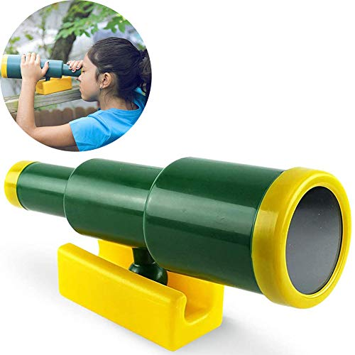 NUB Ajustable Telescopio Telescopio para Casas De Juguete De Exteriores (Complemento para Parques Infantiles De Madera O Columpios) Verde