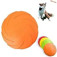 フリスビー 犬用 4個セット 投げるおもちゃ フライングディスク シリコン製 やわらかい 犬用スポーツディス ペットおもちゃ ソフト 噛むおもちゃ Mサイズ(直径18cm)