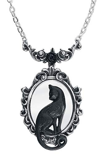 Alchemy Gothic Feline Felicity Collana Colore Argento