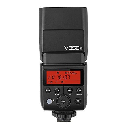 Godox V350F Fuji Version Flash Speedlite Blitzgerät 2.4G Drahtlose Master/Slave TTL Auto Blitz 1/8000s High Speed Sync Eingebaute Lithium Batterie mit Ladegerät Kompatibel mit FULIFILM Kamera Familie.