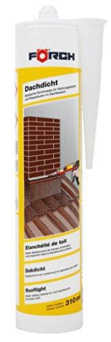 Förch Dachdicht 310ml Kartusche schwarz - elastische Dichtmasse für Wartungs- und Reparaturarbeiten im Dachbereich